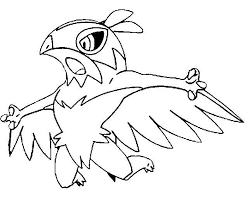 Pokemon Hawlucha Coloring Pages
