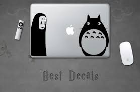 My Neighbor Totoro Sticker Totoro Biting Apple Decal For Etsy