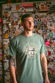 dirty jacks t shirt green man brewery