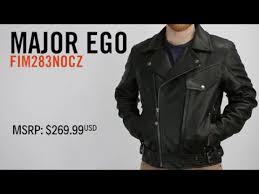 major ego leather motorcycle jacket