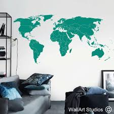 World Map Countries Wall Decals Designed By Wall Art Studios