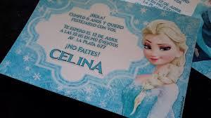 Tarjetas Invitaciones Cumpleanos Infantil Frozen Anna Elsa 22