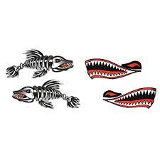 4x Vinyl Cartoon Shark Teeth Mouth Shark Decals Kayak Boat Car Sticker New Auto Parts And Vehicles Car Truck Graphics Decals Magenta Cl