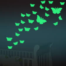 Glow Butterfly Wall Stickers 12pcs Decal Baby Kids Bedroom Home Decor Color Stars Luminous Fluo Butterfly Wall Decals Kids Room Wall Decals Wall Decor Stickers
