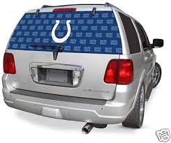 Amazon Com Fremont Die Indianapolis Colts Full Rear Auto Window Film Decal Graphics Sticker Football Sports Outdoors