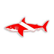 Diver Down Shark Sticker Scuba Dive Flag Laptop Car Vehicle Window Bumper Decal Ebay