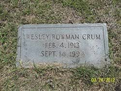 Wesley Bowman Crum (1913-1994) - Find A Grave Memorial