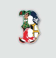 Boston B Sport Teams Fan Combined Logo Mashup Vinyl Sticker Decal Gift Cornhole Ebay