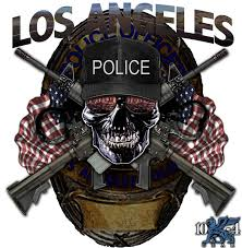 Los Angeles Police Decal For The Thin Blue Line