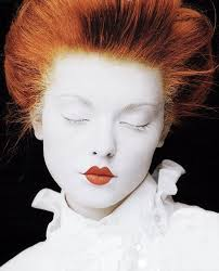 white face red lips great makeup