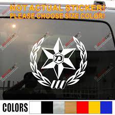 Israel Police Force Israeli Decal Bumper Sticker Jew Hebrew Car Vinyl Pick Size Color Leather Bag