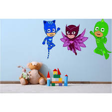 Ds Inspirational Decals Catboy And Owlette Pj Masks Vinyl Wall Art Decal 22 X 36 Removable Home Disney Animated Kids Tv Series Decor Design Kids Bedroom Nursery Sticker Decoration Walmart Com