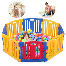 Baby Playpen Fence Big 8s Blue W Free Mats Strong Suction Lazada Ph