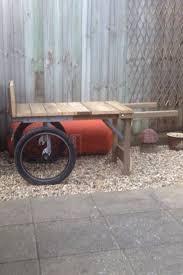 garden barrow made from old bmx wheels