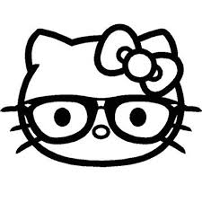 Hello Kitty Nerd With Glasses Sticker 1 Vinyl Sticker For Your Wall Car Or Truck Fun Decals For Cars Cartoon Stickers Girly Decals Hello Kitty Stickers Vinyl Decals