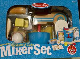 melissa doug wooden make a cake mixer