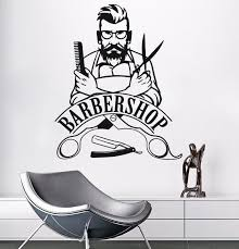 Wall Sticker Barber Shop Sign Wall Decal Removable Hipster Vinyl Stickers Beauty Salon Window Sticker Barbershop Decor Ay773 Wall Stickers Aliexpress