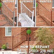 How To Repaint Metal Porch Railings Add Instant Curb Appeal
