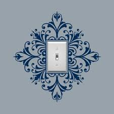 Light Switch Embellishment Vinyl Wall Decal Scroll Damask Etsy Stencils Wall Decor Vinyl Wall Decals