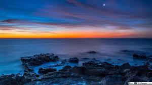 ليلة زرقاء جميلة تنزيل خلفية Hd