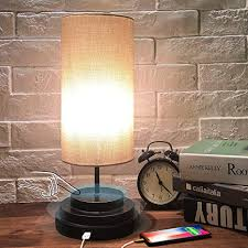 Amazon Com Touch Control Bedsidetable Lamp Moobibear Stepless Dimmable Nightstand Lamp With Usb Charging Port Modern Desk Reading Lamp For Bedroom Living Room Kids Room College Dorm Led Bulb Included Home Improvement