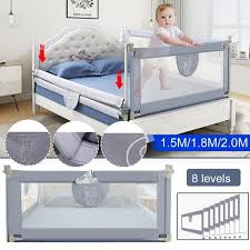 1 Pack Baby Bed Fence Bed Rail 70 80 Adjustable Height Kid Playpen Safety Gate Child Care Barrier For Bed Crib Rails Security Fencing Children Guardrail Walmart Com Walmart Com