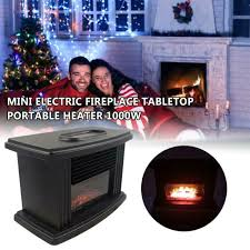 space heater portable faux wood stove