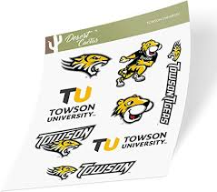 Amazon Com Towson University Tu Tigers Ncaa Sticker Vinyl Decal Laptop Water Bottle Car Scrapbook Type 2 Sheet Arts Crafts Sewing