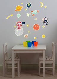 Glow In Space Wall Decals Fun Rooms For Kids