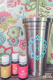 Vinyl Decal Tutorial For Stainless Steel Tumbler For Essential Oils Diy Show Off Diy Decorating And Home Improvement Blog