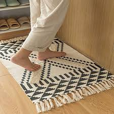 soft tufted cotton area rugs woven