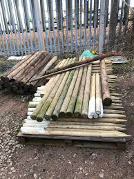 Round Pressure Treated Fence Post Tree Steaks In Bolsover For 1 00 For Sale Shpock