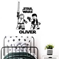 Modern Star Wars Wall Sticker Custom Name Vinyl Wall Decals For Kids Room Decor Star Wars Stickers Decal Wallpaper Aliexpress