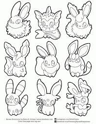 Printable Pokemon Coloring Pages Eevee Evolutions Together