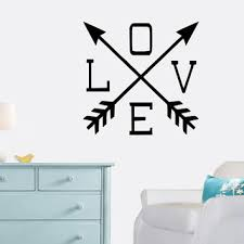Love Wall Decal Arrows Home Decor From Grand Rapids Vinyl