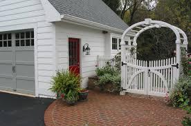 Pin By Lauren Collins On Exterior Detached Garage Designs Detached Garage Brick Pathway