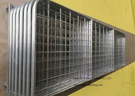 Hot Dipped Galvanized Farm Fence Gate Heavy Duty Livestock Fence Panel