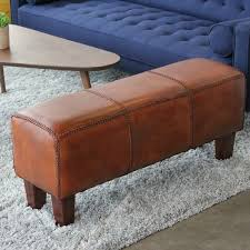 millwood pines aaryahi leather bench