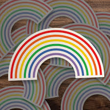 Pride Vinyl Decal Gay Rainbow Pride Vinyl Sticker