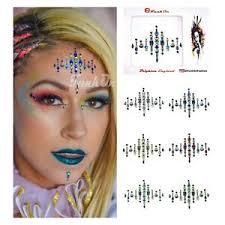 face gem stick on tattoo rave makeup