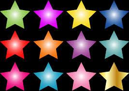 صور نجوم ملونه جمال النجوم يجنن الحبيب للحبيب