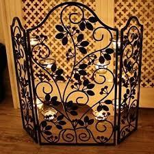 yankee candle black leaf design fire