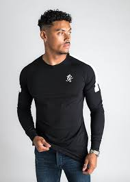 gym king core plus long sleeve black t