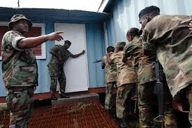 File:US Navy 090105-N-0783S-001 Electricians Mate 2nd Class Byron Ross,  left, assigned to Mobile Expeditionary Security Squadron 2, instructs  members of the Jamaica Defense Force during a Southern Partnership Station  boarding team m.jpg -