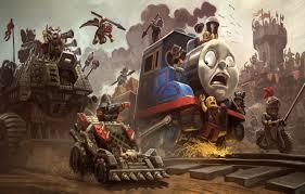 castle train motorcycle railroad