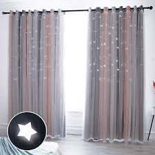 Hughapy Star Curtains Stars Blackout Curtains For Kids Girls Bedroom Living Room 975294489056 Ebay