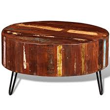 festnight round coffee table reclaimed