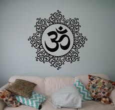 Symbol Om Wall Vinyl Decal Mandala Wall Sticker Yoga Studio Etsy Wall Stickers Yoga Wall Stickers Living Room Vinyl Wall Decals
