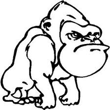 Angry Gorilla Vinyl Cut Decal