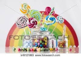 jars on table on gum stock image